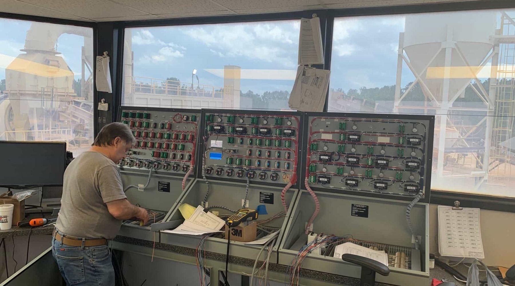 Asphalt Plant Controls Installation